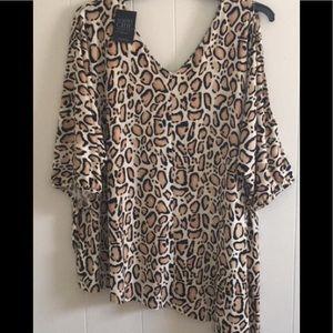 LaneBryant❣️Sassy cold shoulder❣️asymmetric blouse